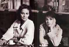 Charlotte Rampling and Charlotte Gainsbourg photographed for Harper's Bazaar