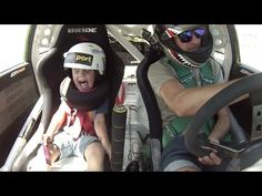 Father And Son Travel at Top Speed in Racing Car - Smile Positive