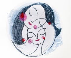 Illustrated Screen Printed Artwork by Lisa Stubbs via Oh So Beautiful Paper (1)