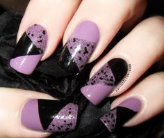 Geometric nail art using Illamasqua Velocity, Swarm and Scorn