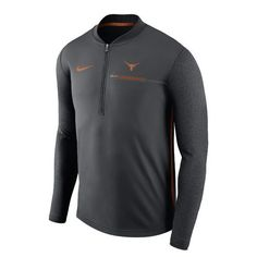 Nike Men's University of Texas Coaches 1/4 Zip Pullover (Charcoal, Size XX Large) - NCAA Licensed Product, NCAA Men's Fleece/Jackets at Academy Sports