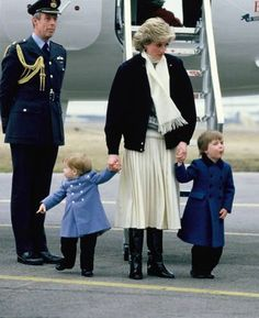 March 14 1986 Diana arrives at Aberdeen Airport with the boys on their way to Balmoral in Aberdeen, Scotland for a spring weekend Charles was waiting at Balmoral, he had taken an earlier flight in order to carry out engagements at Willowbank House, Aberdeen