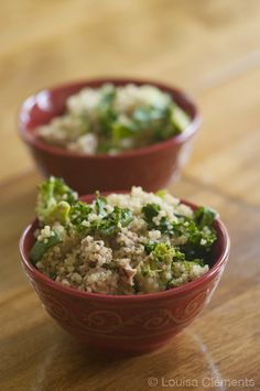 Quinoa Bowl..made with Kale,broccoli,zucchini and italian sausage