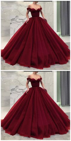 Burgundy Prom Dress,Ball Gown Wine Red Long Prom Dresses from meetdresse Burgund Abschlussballkleid, Ballkleid Weinrot Lange Ballkleider · meetdresse · Online Store Powered by Storenvy Long Prom Gowns, Ball Gowns Prom, Ball Gown Dresses, Prom Long, Red Ball Gowns, Red Gown Dress, Dance Dresses, Xv Dresses, Formal Dresses