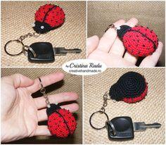 Ladybug keychain toy keychain ladybug by cutetoysbycristina