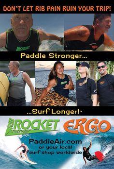 PaddleAir power paddlewear to paddle stronger, surf longer.