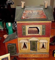 Small Theodore Heymann, German dolls house 14 x German c 1910 Vintage Room, Vintage Houses, Vintage Stuff, Antique Dollhouse, House Ornaments, Old Dolls, Miniture Things, Antique Toys, German