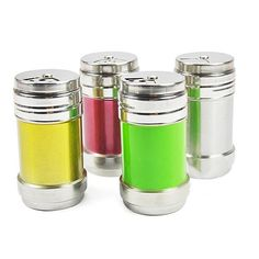 4 Colors Multifunction Stainless Steel Seasoning Bottle C428