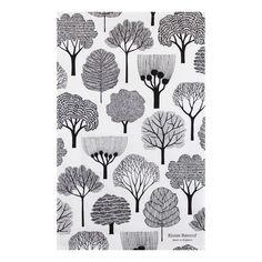 Woodland Tea Towel - White @ Howkapow