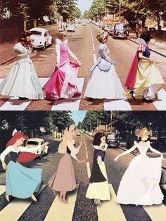 princesses on the street beatles