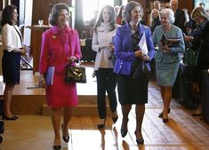 Queen Sofia of Spain, Queen Silvia and pregnant Princess Sofia attended second session of Dementia Forum X at Stockholm Royal Palace Princess Sofia Of Sweden, Pregnant Princess, Mature Women Fashion, Prince Carl Philip, Queen Silvia, Hollywood Fashion, Powerful Women, Hermes Birkin, Dementia