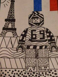 LEGO poppetje opdracht lijnen