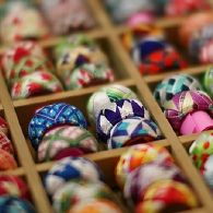 Kaga Yubinuki -- traditional Japanese thimbles. Decorated with thread and worn like a ring.