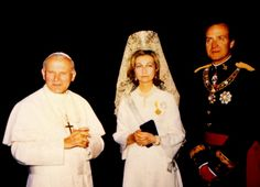 Pope John Paul II, Queen Sofia and King Juan Carlos of Spain