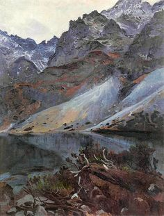 windypoplarsroom Stanisław Gałek (Polish, 1876-1961), Morskie Oko, 1910. Oil on canvas. 96 x 74 cm. Private collection, on loan to the Tatra Museum, Zakopane.