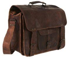 LARGE Leather messenger bag leather briefcase over-lander leather portfolio bag retro laptop office satchel travel shoulder bag