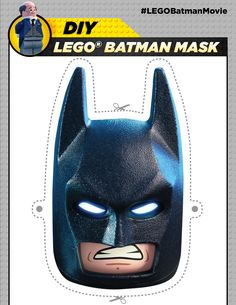 This is the most COOLEST mask you could ever make. Alfred thinks so too, or else his face wouldn't be on this. Download this Pin image on your device to print at home! Link to print: http://pdl.warnerbros.com/wbol/ww/movies/legobatman/pinterest/LEGB_DIYBoard_BatmanMask_v1b.pdf | The LEGO® Batman Movie | In theaters now
