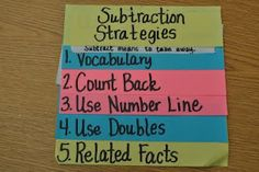 Step into 2nd Grade with Mrs. Lemons - Subtraction Foldable, could also do same for multiplication strategies.