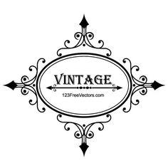 VINTAGE FRAME VECTOR GRAPHICS - Download at Vectorportal