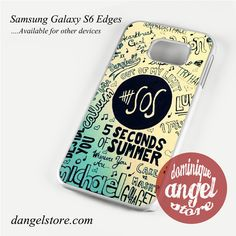 5 Seconds of summer poster art Phone Case for Samsung Galaxy S3/S4/S5/S6/S6 Edge