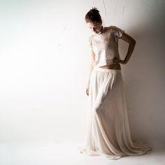 Boho Wedding dress Sequin wedding dress Blush by larimeloom