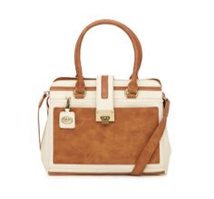 Laine Tote Bag (Cream/Tan)   Ollie & Nic – Vintage inspired handbags and accessories.