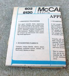 Never  Used Vintage McCalls Pattern 8130 by lovelylovedesigns, $3.99
