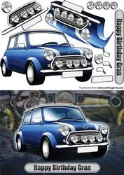 Gelukkige Verjaardag Gran Mini Classic Blue