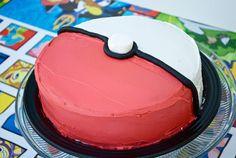 Birthday Party Pokemon birthday party ideas - I think I could actually handle this cake myself.Pokemon birthday party ideas - I think I could actually handle this cake myself. 6th Birthday Parties, Birthday Fun, Cake Birthday, Birthday Ideas, Princess Birthday, Pokemon Birthday Cake, Pokemon Torte, Pokemon Cakes, Pokeball Cake