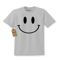 Big Smiley Face Fun Emoji Kids T-shirt