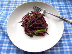 Red Wine Spaghetti with Broccoli Rabe
