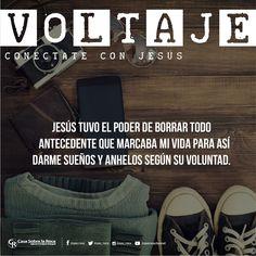 Jesús tuvo el poder de borrar todo antecedente que marcaban mi vida. #ConéctateConJesús http://devocional.casaroca.org/jv/24abr