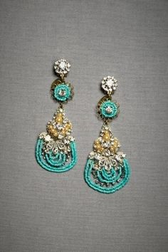 Exotic Turquoise & Gold earrings
