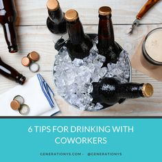 6 Tips for Drinking with Coworkers - Generation Ys Blog #drinkingtips