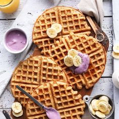 It's never too early or late for breakfast. Coconut Yoghurt Waffles by…