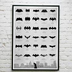 Batman Logo Evolution Poster - $37