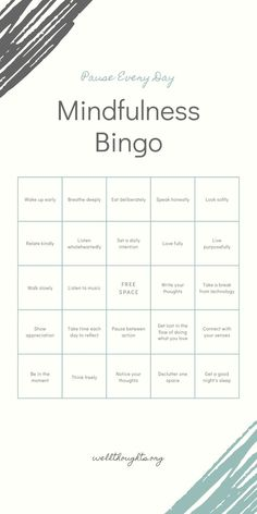 Mindfulness is about being present in the moment - crushing any ruminating thoughts and focusing on the physical sensations of your body. Play a game of mindfulness bingo and watch how your emotions and perceptions start to change. Mindfulness Activities, Mindfulness Quotes, Counseling Activities, Therapy Activities, Mental Health Counseling, Vie Motivation, Therapy Tools, Conscience, Coping Skills