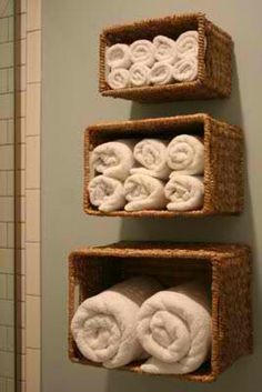 Bath towels - space saver ideas