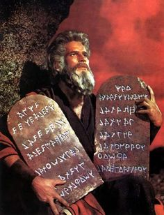 charlton heston as moses, in the ten commandments , directed by cecile b. demile -- [not sure how his name is spelled] lol since moses is an israelite, i'd put him here. i love this movie, btw. Films Chrétiens, Biblical Tattoos, Biblical Art, Hanya Tattoo, Glyph Tattoo, Ten Commandments, New Gods, Clean Memes, Christian Memes