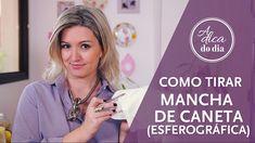 COMO TIRAR MANCHA DE CANETA ESFEROGRÁFICA | A DICA DO DIA COM FLÁVIA FER...