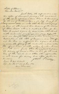 LINCOLN, ABRAHAM Note Unframed for sale