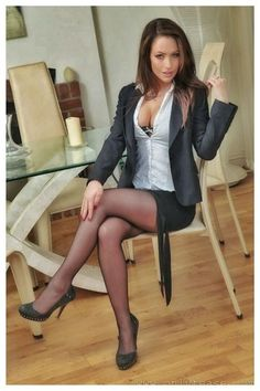 Secretary wearing her blouse and skirt as her boss told her to