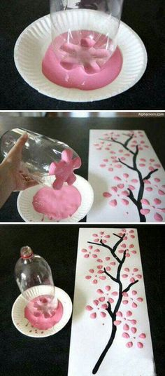 Sakura tree wall decor DIY