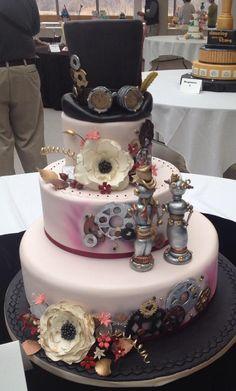 #steampunk wedding cake