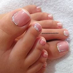 Gel Toe Nails, Acrylic Toe Nails, Painted Toe Nails, Feet Nails, Toe Nail Art, Gel Toes, Glitter Toe Nails, Pretty Toe Nails, Cute Toe Nails
