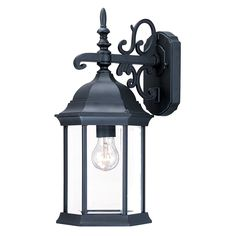 """Garage Sconce, probably too ornate for your taste, but I kind of like it, $52.69 @ 8""""w x 16.5"""" high x 9.5"""" projection"""