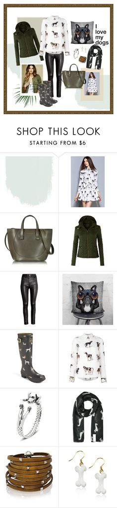 my dog by laarbuixech on Polyvore featuring moda, STELLA McCARTNEY, LE3NO, Joules, Victoria Beckham, Sif Jakobs Jewellery and Whimsical Watches