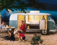 Cool vintage VW Camper Van advertisement  #vw #volkswagen #campervan #camping…