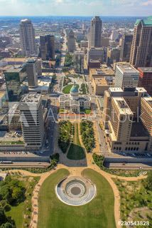 WSpinpics: Aerial view of downtown St. Louis from the Gateway...