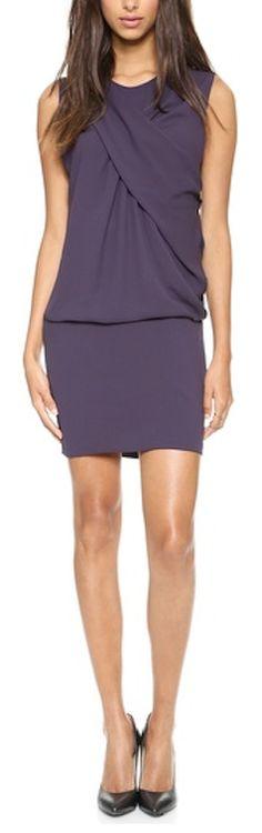 elegant dark #purple drape dress http://rstyle.me/n/mgmdzr9te